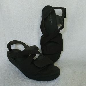 Grasshopper Ortholite Black Sandals